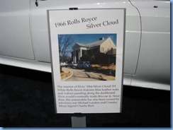 8297 Graceland, Memphis, Tennessee - Elvis Presley's Automobile Museum - 1966 Rolls Royce Silver Cloud