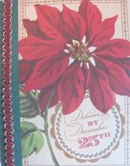 2011 Holiday.Christmas cards side braid pointsettia