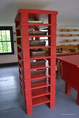 Bread rising shelves -- just like Subway!