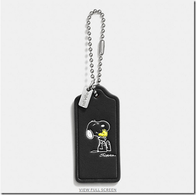 COACH X Peanuts leather hangtag - USD 20 - black 09