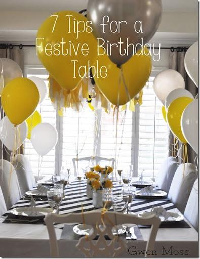 7 tips\u2026 for setting a fun \u0026 festive birthday table & Gwen Moss: 7 tips\u2026 for setting a fun \u0026 festive birthday table