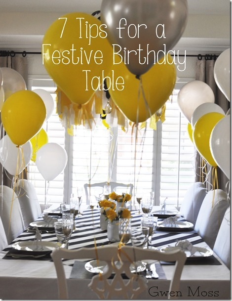 Gwen Moss: 7 tips… for setting a fun & festive birthday table