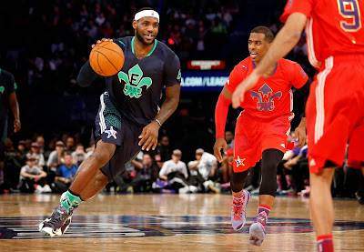 lebron james nba 140216 all star new orleans 06 game Gallery: LBJ Wears Gator King LeBron 11 in 2014 NBA All Star Game
