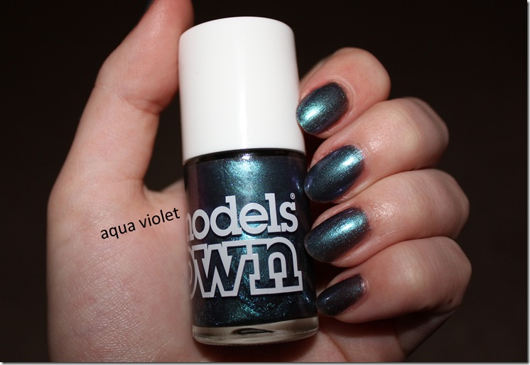models own beetlejuice aqua violet nails