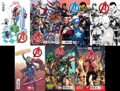 Avengers-01-Variants