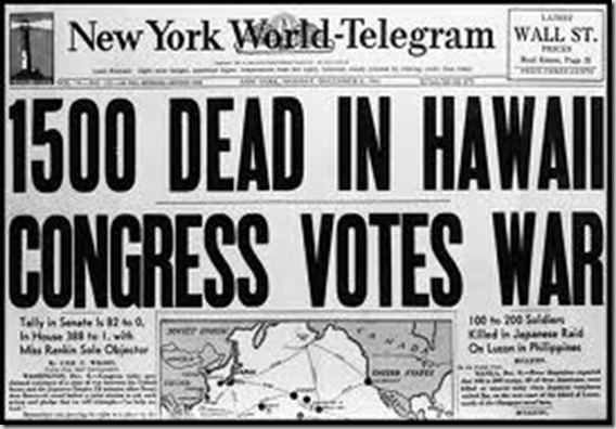 Pearl Harbor Headline