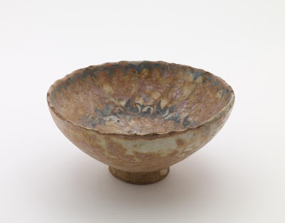Bowl | Origin:  Syria | Period: 14th-15th century? | Details:  Not Available | Type: Stone-paste decorated with glaze | Size: H: 9.5  W: 20.1  cm | Museum Code: F1905.277 | Photograph and description taken from Freer and the Sackler (Smithsonian) Museums.