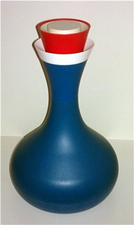 David Douglas Therm Ware carafe, blue with stopper