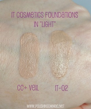 IT Cosmetics CC  VEIL swatch in Light