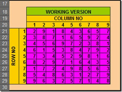 Solve Sudoku with Excel7