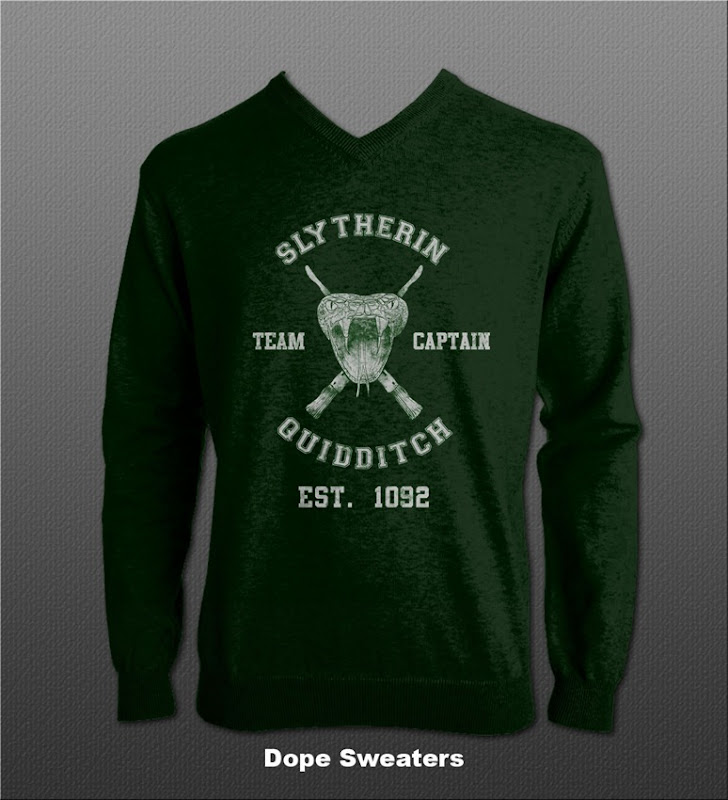 slytherin quidditch sweater via dope sweaters