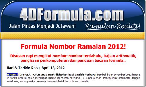 Landing Page HaramJadah 4D Formula.Com
