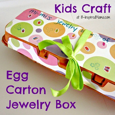 Egg Carton Craft Jewelry Box Gift for Grandma BInspiredMamacom