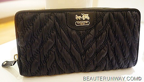 Coach Madison Wallet Quilted Chevron Lindsey 70th anniversary