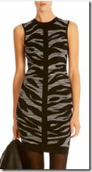 Karen Millen Zebra Jaquard Knit Dress (on sale)