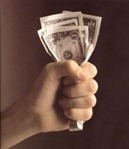 money lesson cash on hand