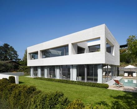 Casa en lago zurich suiza de sam architekten und partner for Casa contemporanea