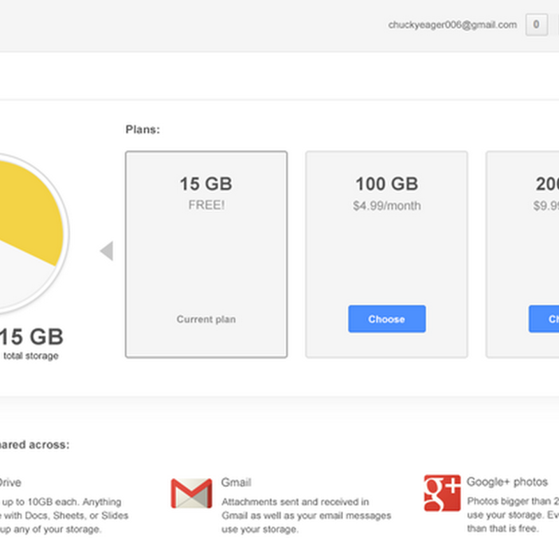Google Combines Drive, Gmail, and Google+ Photos Storage