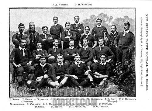 Maori Touring Team , 1888 , The first New Zealand overseas touring team , toured the UK