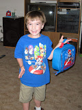 All ready for his first day of Kindergarten!