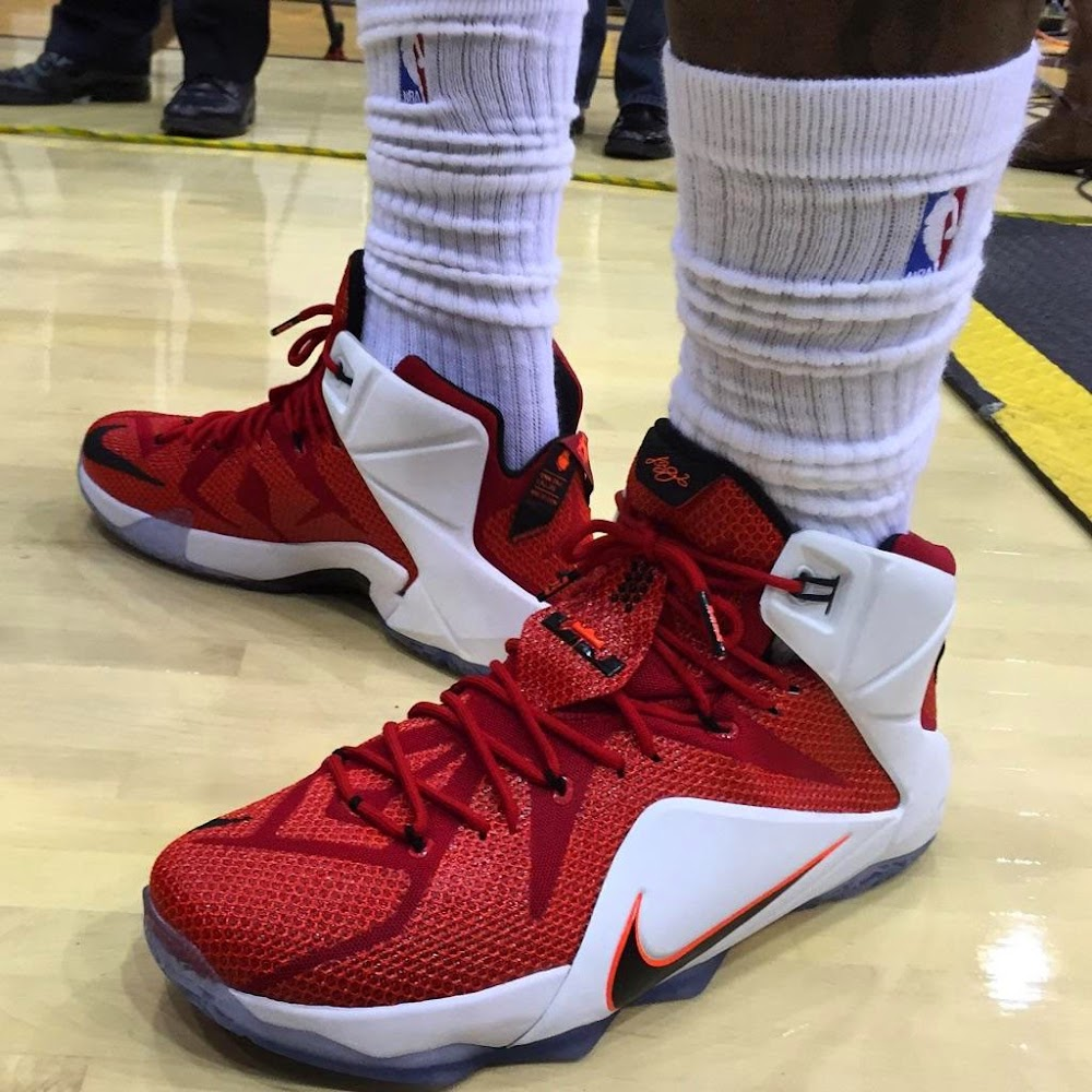 low priced 0f8ac 52513 ... King James Sports 8220Heart of a Lion8221 LeBron 12 for Cavs Media Day  ...