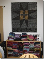 Patchwork made from Oleana sweaters in Bergen Norway