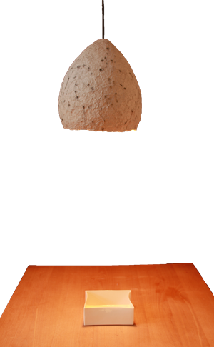 WERKSTATT-officina04: Pappmaché Lampe - lampada in cartapesta