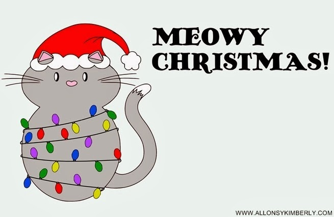 "Freebie: ""Meowy Christmas"" Card Printable 