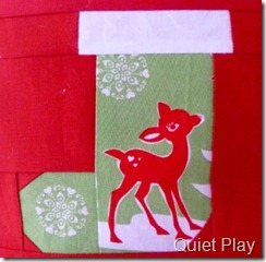 Paper pieced stocking