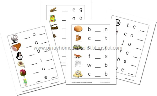 Beginning, Middle, and Ending Sounds Worksheets