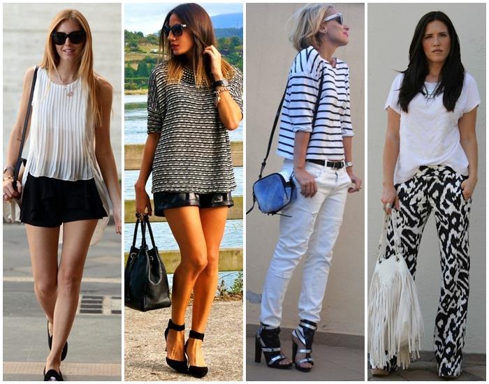 moda preto e branco looks - como usar 01