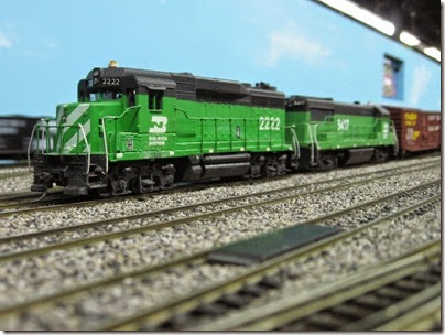 IMG_5447 Burlington Northern GP30 #2222 on the LK&R HO-Scale Layout at the WGH Show in Portland, OR on February 17, 2007