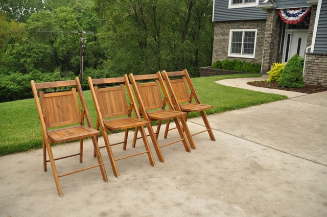 Thrifted Outdoor Folding Chair