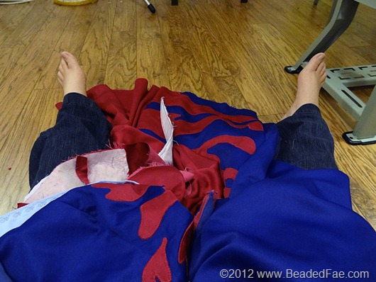 Sleeping Beauty Pink and Blue Gown Construction (36)