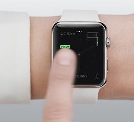 Swipe with Apple Watch