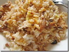 portuguese sardine fried rice, 240baon