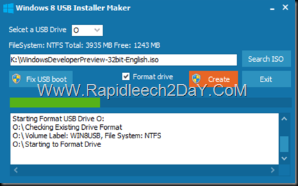 steps-Windows 8 USB Installer Maker - figure 4
