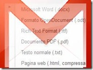 Salvare le email Gmail in PDF, Word docx, OpenDocument odt, rtf o txt