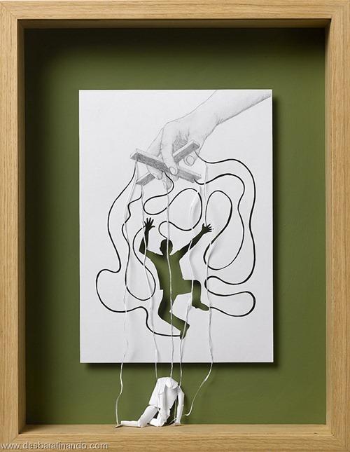 obras de arte em papel 3D origami Peter Callesen desbaratinando (5)