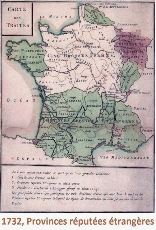 1732 províncias reputadas estrangièras