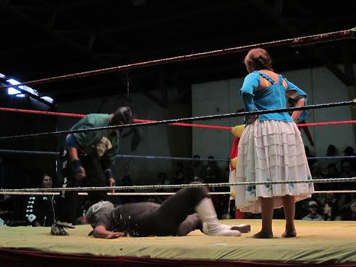 Cholita's Wrestling in El Alto, La Paz
