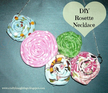 DIY Rosette Necklace