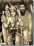 Vishvamitra with Rama and Lakshmana