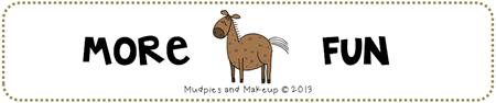 Horse Themed Preschool Fun