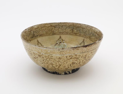 Bowl | Origin:  Iran | Period: 17th century  Safavid period | Details:  Not Available | Type: Stone-paste painted under glaze | Size: H: 9.5  W: 21.7  cm | Museum Code: F1908.224 | Photograph and description taken from Freer and the Sackler (Smithsonian) Museums.
