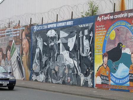Obiective turistice Belfast: pictura murala cu Guernica de Picasso