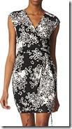 Diane von Furstenberg Black and White Print Dress