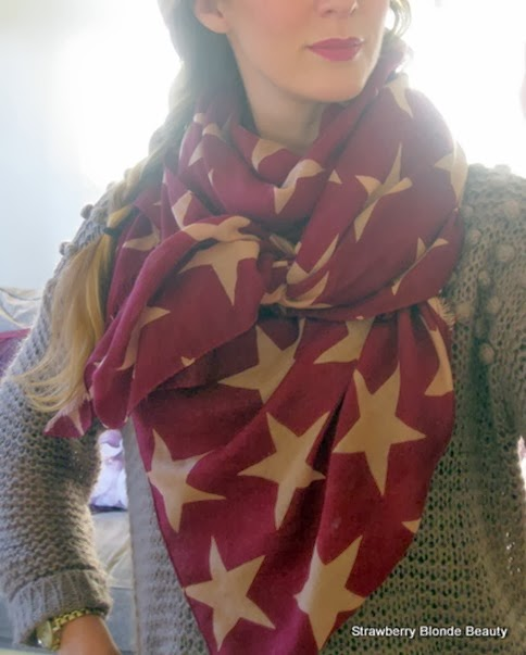 Becksondergaard-star-scarf-burgundy-wine-plum