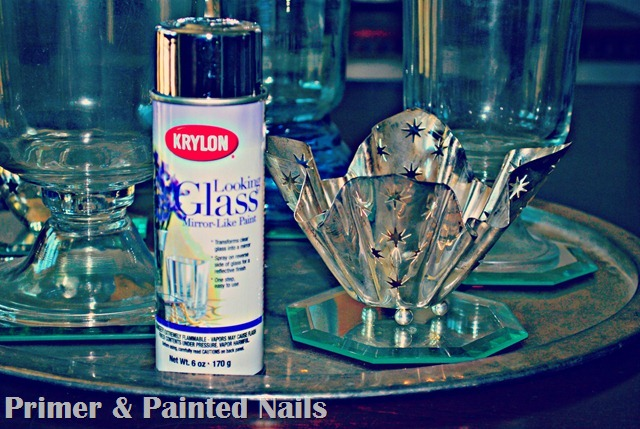 Krylon Looking Glass - Primer & Painted Nails