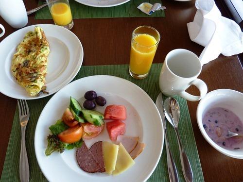 Frukost, Hilton Double Tree Hotel, Aqaba, Jordanien